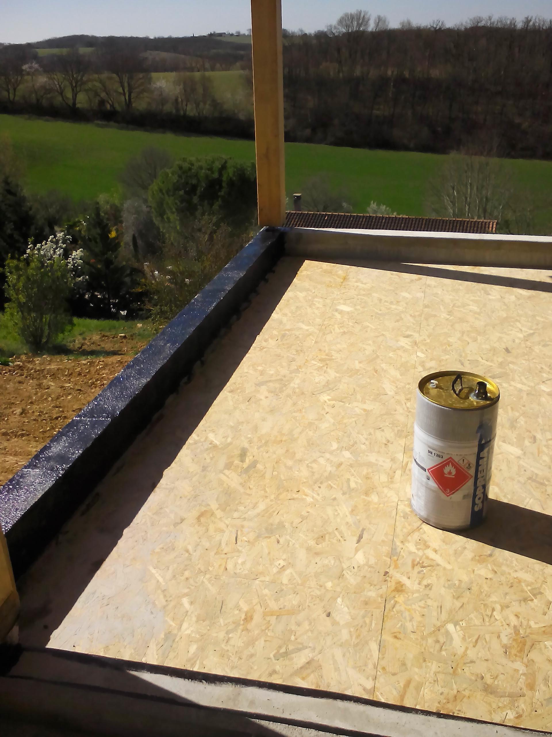 terrasse support en bois OSB