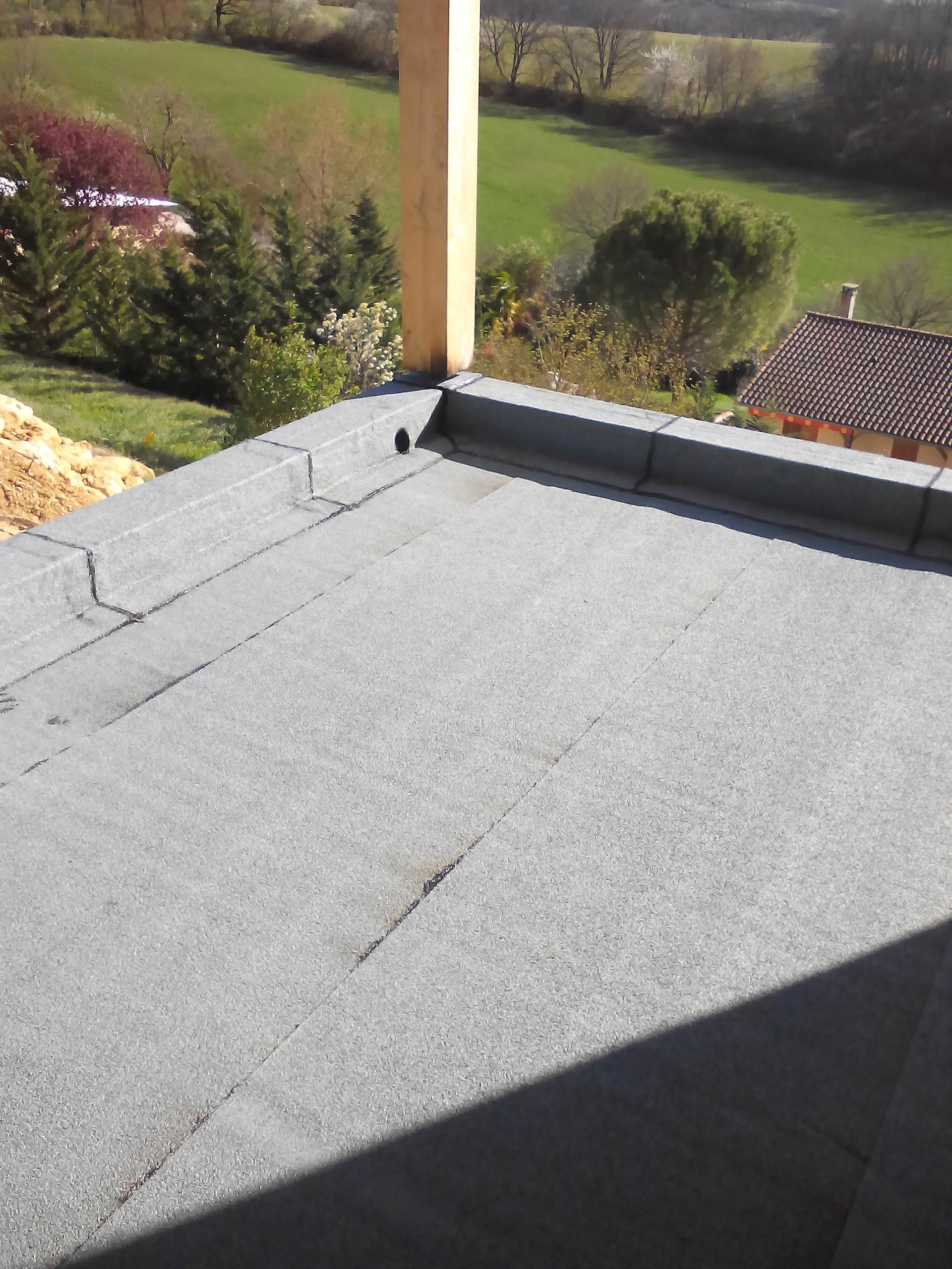 terrasse goudron terminée gris clair
